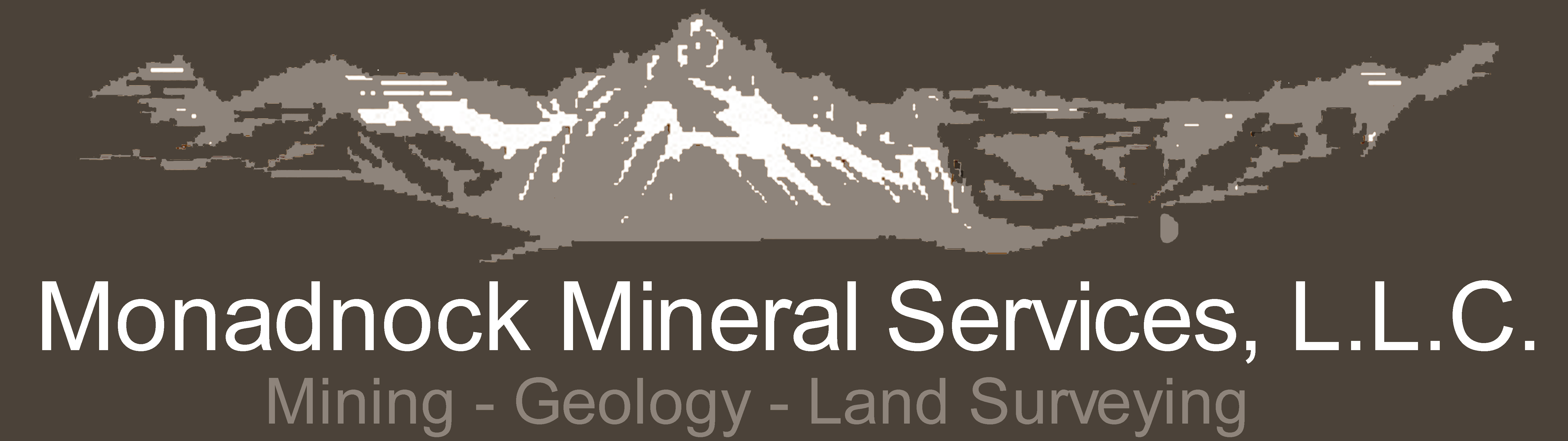 monadnock mineral services logo survey mining geology